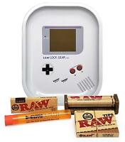RAW 1 1/4 Rolling Papers, Leaf Lock Gear Mini Tray (Portable Game) and MORE