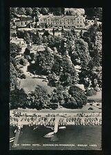 Cumbria BOWNESS-ON-WINDERMERE  Crown Hotel Used 1954 Aerial PPC