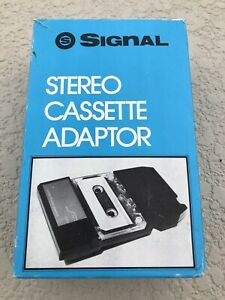 Signal Stereo Cassette Adaptor Model CA-900 Vintage Complete Mint Fast Ship!