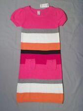 NWT Gymboree Girls Size 12 Panda Academy Sweater Dress Pink Stripe Retail NEW