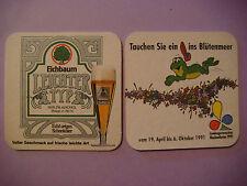 Beer Coaster ~ Eichbaum Brauerei Leichter Typ ~ 1991 Hockenheim Garden Park FROG
