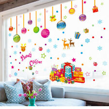 Creative Removable Merry Christmas House Vinyl Window Wall Stickers Decal Decor