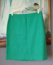 "J. Crew Women's Green ""The Pencil Skirt"" 70% Wool Lined Skirt Size 8"