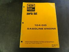 Ford 104 CID Gasoline Engine Parts List Manual