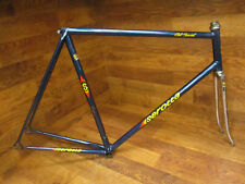 RARE VINTAGE SEROTTA CLUB RACER COLUMBUS STEEL LUGGED TRACK BIKE FRAME SET 58CM