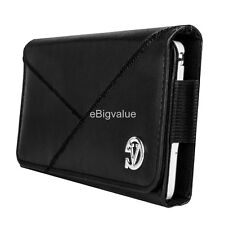 Black Holster Belt Clip Pouch Case for Samsung Galaxy Mega 2 / Note 5 / 4 / Edge
