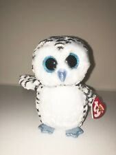TY LUCY WHITE SNOW OWL BEANIE BOOS- NEW, RED TAG-RETIRED, HARD TO FIND-BEAUTIFUL