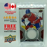 ALEX GALCHENYUK 201718 Upper Deck Series 1 Game Used Jersey no. GJ-AG