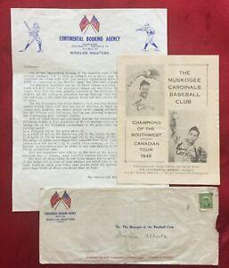 THE MUSKOGEE CARDINALS BASEBALL CLUB - 1949 PAMPHLET LETTER & ENVELOPE