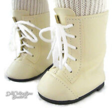 "Cream 1800 Boots Shoes fits 18"" American Girl Samantha Doll Clothes"