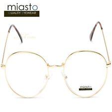 MIASTO BIG ROUND CIRCLE LARGE METAL READER READING GLASSES+1.50 OVERSIZED~ GOLD