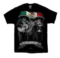 El Mariachi Loco Viva Mexico Chicano Lowrider Art DGA David Gonzales T Shirt