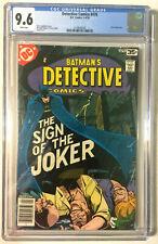 DETECTIVE #476 CGC 9.6 WHITE PAGES CLASSIC JOKER BATMAN MARSHALL ROGERS 1978