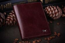 Genuine Brown Braun Buffel Leather Documents, Case for Passport