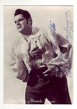 MIRANDA FERRARO Piero, autografo del tenore su foto-cartolina in b/n, anni '50