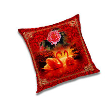 """Red Rose Cushion Cover Polyester Pillow Case Sofa Home Decoration Size 12""""-24"""""""