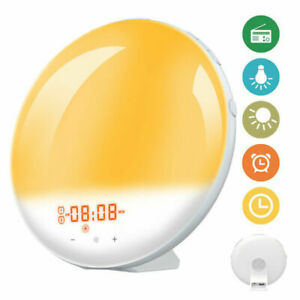 Digital Alarm Clock Wake Up Light Night Light Sunrise Simulation Touch Control