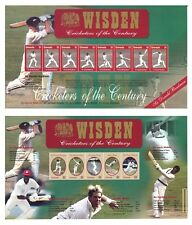 Grenada Wisden Cricketers of The Century 2 Stamp Sheets MUH Sir Donald Bradman