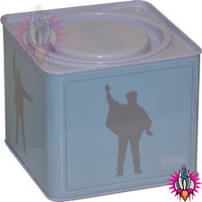 NEW OFFICIAL THE BEATLES HELP BLUE STORAGE CONTAINER TIN TEA COFFEE SUGAR BOX