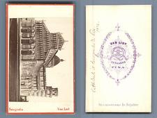 Van Lint, Italia, Pisa, Il Duomo, Battistero e Torre  CDV vintage albumen. Vinta