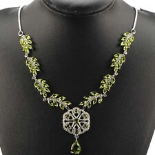 Stunning Sterling Silver Peridot White CZ AC Necklace 2 Weimaraner Rescue Charit