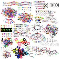 100pcs Monroe Labret Stud Lip Ring Ear Cartilage Tragus Helix Piercing Earring