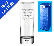 Personalised Engraved Bubble Hi Ball Tall Glass Birthday Mother's Day Gift