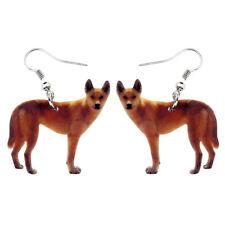 Acrylic Dingo Wild Dog Earrings Drop Dangle For Women Fashion Charm Jewelry Gift