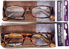 FOSTER GRANT EnhancedVision Reading Glasses +1.25 *SET OF 2* 50-19-143 (C1)>NEW<