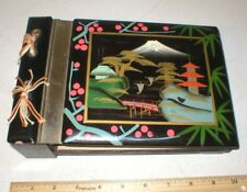 Vintage Japan Photo Album With Music Box Wooden Japanese