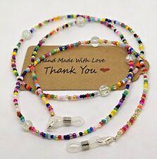 Multi colour retro Glasses chain love Beads Cord Chain Strap Spectacles Gift