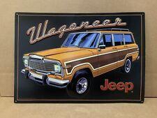 Jeep Wagoneer Sign Metal Parts Garage Truck Car Vintage Style Gas Oil Wood Grain