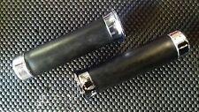VESPA PX DISCO Cromo y Negro de goma Grips Bar Mango parte original Piaggio
