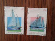 serie completa de sellos usados barcos de época año 1994, edif. 3314-15