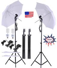 Photo Studio Lighting Kit Set!2Pcs 2M 6.6Ft Light Stand +2Pcs 33'' Umbrella F9I8