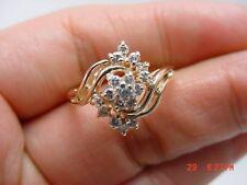 Stunning 14Kt Y/G Ladies Diamond Right-Hand Ring #3391