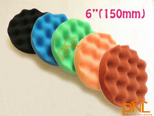 """5PC 6"""" Waffle Polishing Buffer Pad Foam Buffing pad Set"""