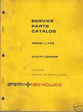 New Holland L 778 Skid Steer Loader Parts Manual