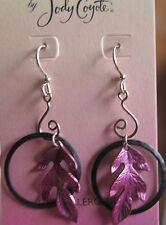 Jody Coyote Earrings JC11 New hypoallergenic black purple SMP165-01 Made USA