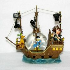 Disney Snow Globe - Black Pearl Pirate Ship - Mickey, Donald & Pluto (1992)