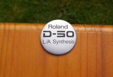"""Roland D-50 L/A Synthesis 2 1/4"""" Advertising Lapel Pin Pinback Button"""