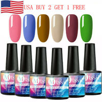 MTSSII 6 Bottles 8ML UV Gel Nail Polish Set Soak Off Varnish Varnish US STOCK