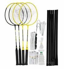 NEW Carlton Badminton Set 4 Player Racket  Poles Net Bag Garden Game Summer NEW