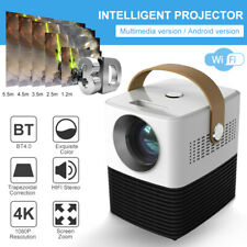 Bluetooth WiFi LED Projector Android 1080P HD HIFI USB Stereo Smart Home Theater