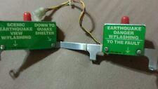 Williams Earthshaker pinball machine ramp sign bracket assembly  complete .