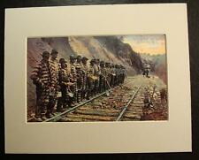"BLACK MAN CHAIN GANG ON RAILROAD-""STRIPS BUT NO STARS"", ASHEVILLE, N.C.., Print"