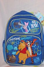 """NEW IN PACKAGE WINNIE THE POOH AND TIGGER 12"""" X 16"""" DISNEY  LARGE BACKPACK"""