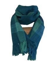 Himalayan Weavers Turquoise & Green Scarf, 100% Wool, Natural Dyes, Fair Trade