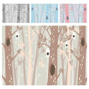 Vlies Fototapete Kinderzimmer Wald Bäume Skandinavisch Tapete XXL Babyzimmer 83