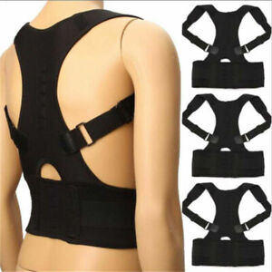 POSTURE corrector body brace back lumbar shoulder support belt women men UK